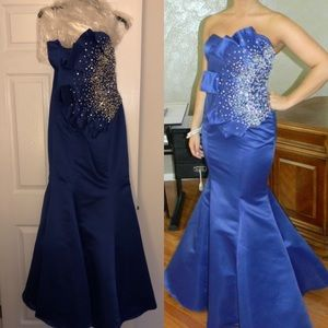 Jovani Royal Blue Prom Dress